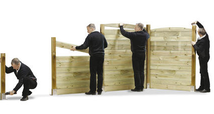 MOde d'emploi montage clôture bois