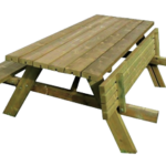 Table de pique-nique Rabatable - Pin Sylvestre